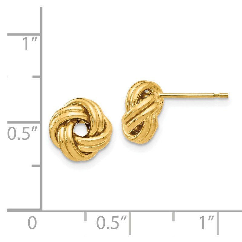 Leslie's Leslie's 14K Polished Love Knot Post Earrings