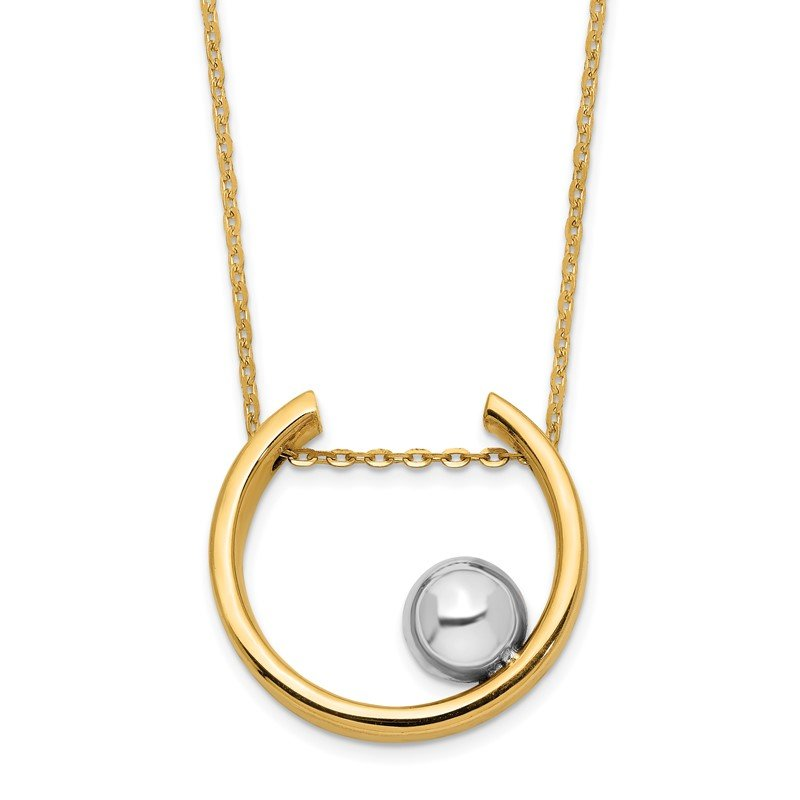 Quality Gold 14K Two-tone Necklace