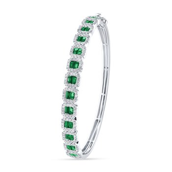 14K 1.27Ct Diamond Bangle