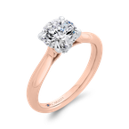 Carizza 14K Two-Tone Gold Diamond Engagement Ring (Semi-Mount)