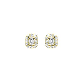 Emerald-Cut Stud Earrings
