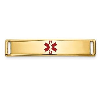 14K Epoxy Enameled Medical ID Ctr Plate # 816