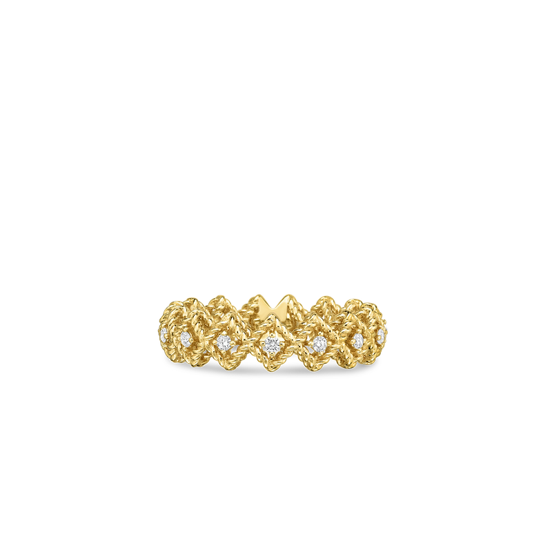 Roberto Coin 18KT GOLD SINGLE ROW DIAMOND BAND RING