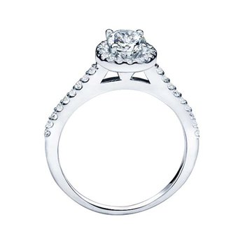 Oval Cut Halo Diamond Engagement Ring