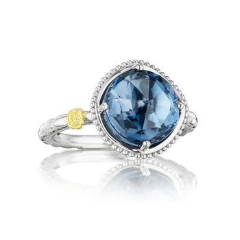 Bold Simply Gem Solitaire Ring featuring London Blue Topaz