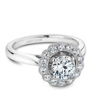 Noam Carver Floral Engagement Ring B086-01A