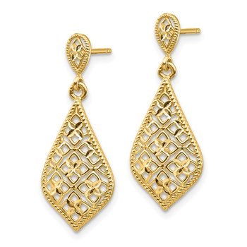 14K Fancy Dangle Post Earrings