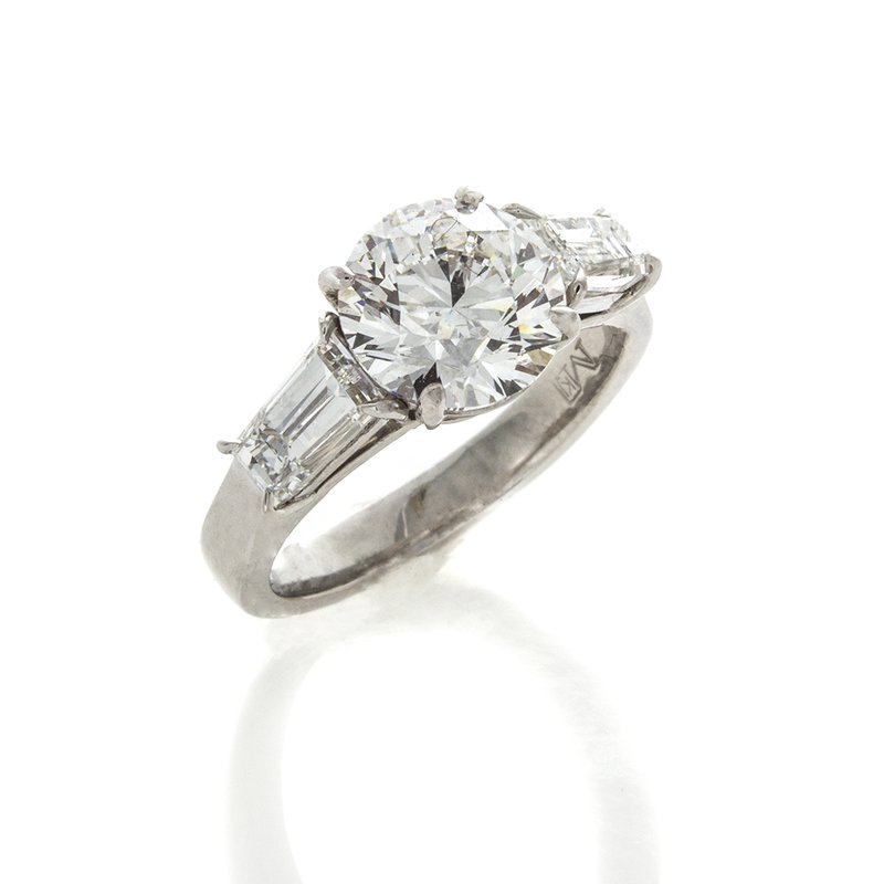 William Levine BRILLIANT CUT DIAMOND 3.01 CT
