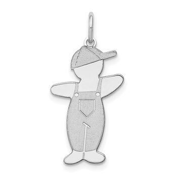 Sterling Silver Rhodium-plated Pee-Wee Cuddle Charm