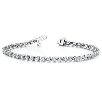 14kw True Origin Lab Grown VS/SI, D E F, Diamond Tennis Bracelet