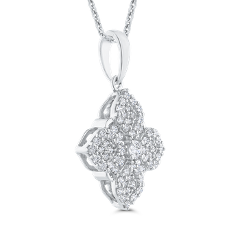 Round Cut Diamond Fashion Pendant