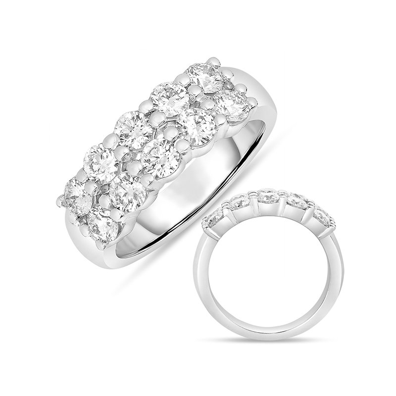 S. Kashi & Sons Bridal White Gold Double Row Band