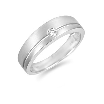 14K WG Wedding /Anniv Ring with Solitaire His and Hers