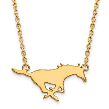 Gold Southern Methodist University NCAA Necklace