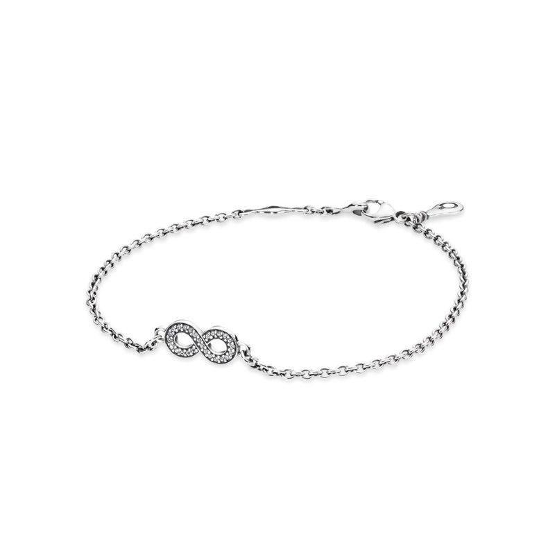 Pommier Jewellers Pandora Symbol Of Infinity Bracelet Clear Cz