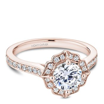 Noam Carver Floral Engagement Ring R031-01RA