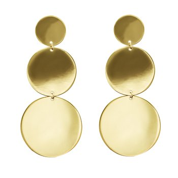 3 Disc Linear Drop Earrings