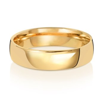 18Ct Yellow Gold 5mm Slight Court Wedding Ring