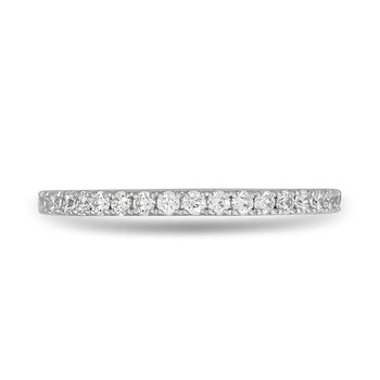 14K WG and diamond Eternity ring in channel setting 0.75 Cts