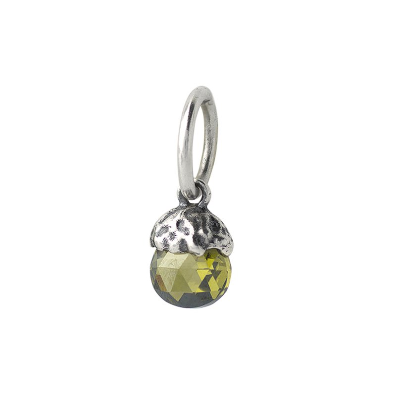 Waxing Poetic Tiny Light Birthstone Charm - August