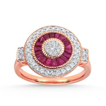 14K 0.36Ct Diamond Ruby