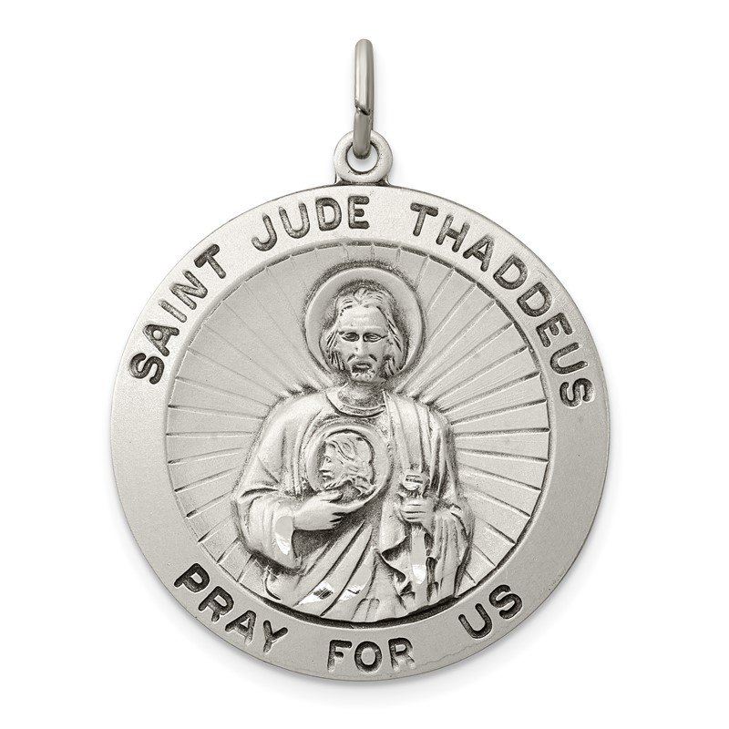Quality Gold Sterling Silver Saint Jude Thaddeus Medal