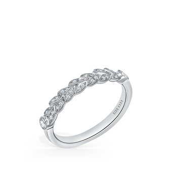 Kirk Kara 18K White Gold Diamond Leaf Band