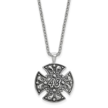 Sterling Silver 48 Jimmie Johnson NASCAR Necklace