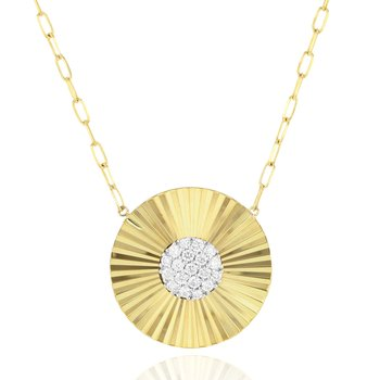 Yellow gold diamond Aura necklace
