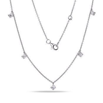 14K Diamond by the yard Necklace 0.36C