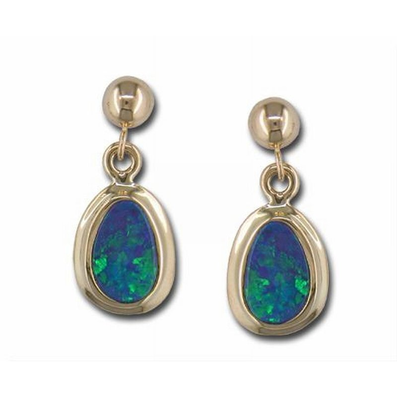 Parlé Yellow Gold Opal Earrings