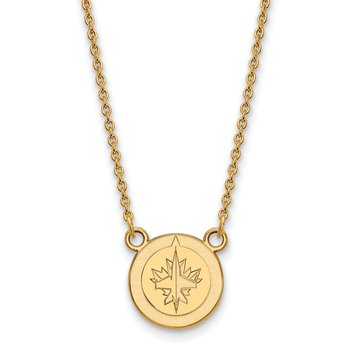 Gold Winnipeg Jets NHL Necklace