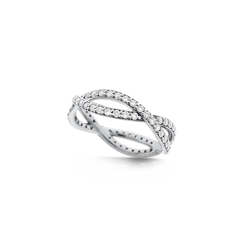 KC Designs Diamond Infinity Ring in 14k White Gold with 72 Diamonds weighing .72ct tw.