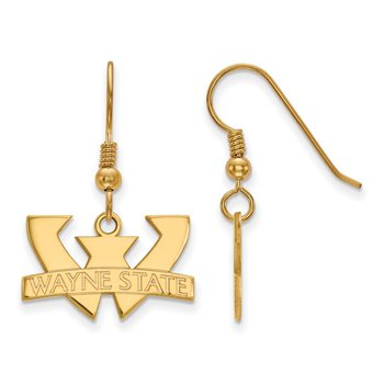 Gold-Plated Sterling Silver Wayne State University NCAA Earrings
