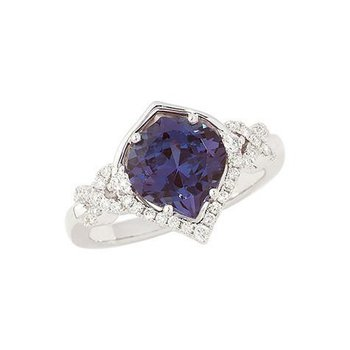 Alexandrite Ring-CR8254WAL