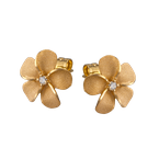 Denny Wong Designs Yellow Gold Plumeria Post Earrings