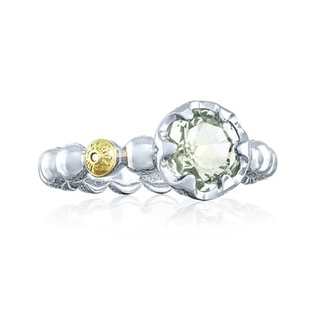 Beaded Bezel Ring featuring Prasiolite