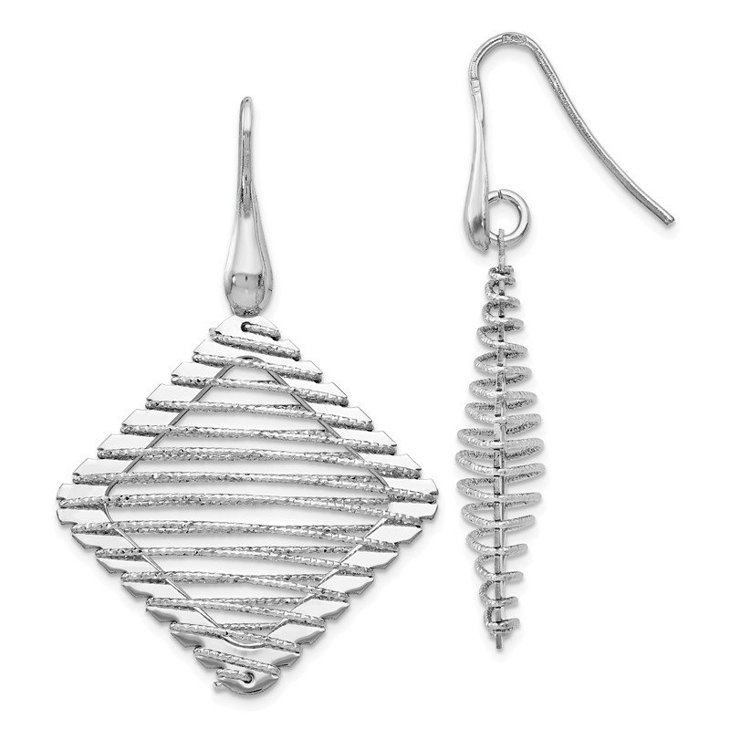 Leslie's Leslie's Sterling Silver Rhodium-plated Shepherd Hook Earrings