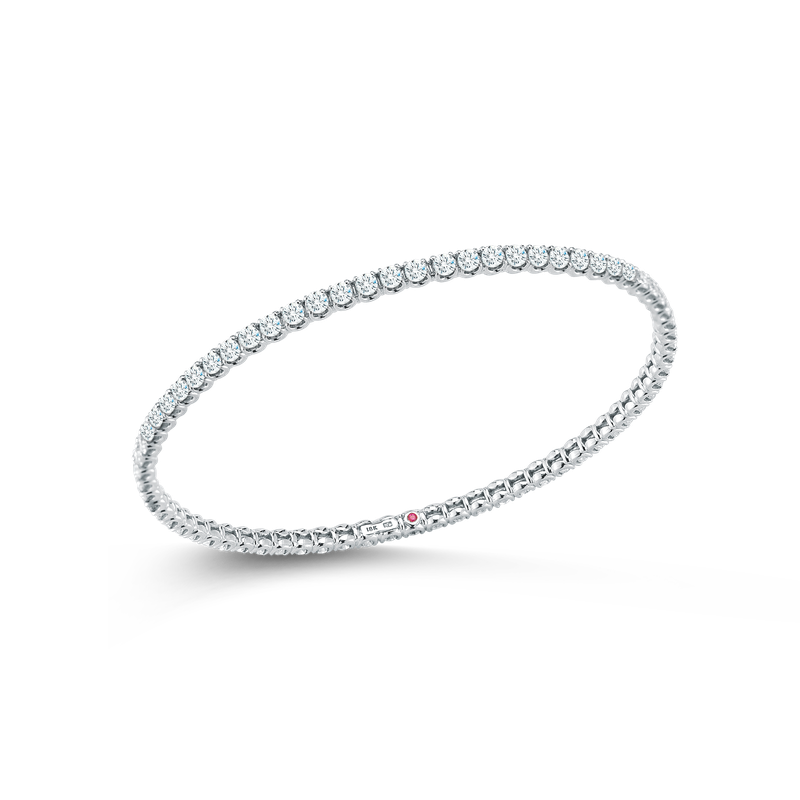 Roberto Coin Bangle With Diamonds &Ndash; 18K White Gold, L