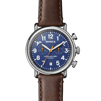 Runwell Chrono 41mm, Brown Leather Strap