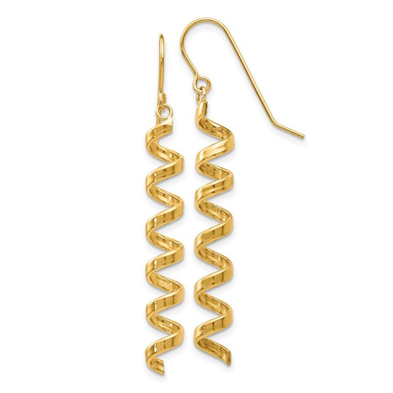 J.F. Kruse Signature Collection 14k Fancy Spiral Drop Earrings