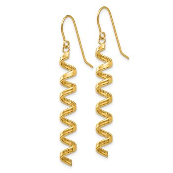 14k Fancy Spiral Drop Earrings