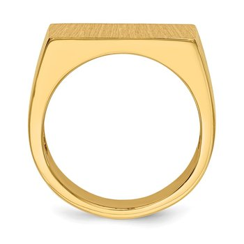 14k 11.0x18.0mm Open Back Men's Signet Ring