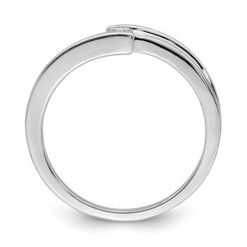 Sterling Silver Rhodium Polished Diam. Ring