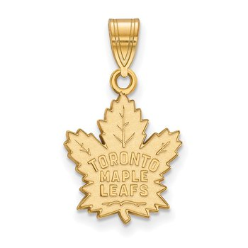 Gold Toronto Maple Leafs NHL Pendant