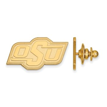 Gold-Plated Sterling Silver Oklahoma State University NCAA Lapel Pin