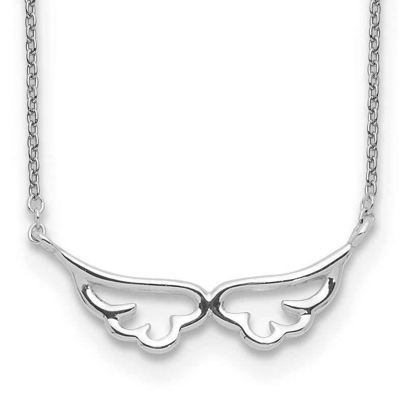 Quality Gold Sterling Silver Wings Necklace