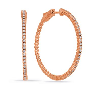 Rose Gold 1.45 inch Securehinge Hoop