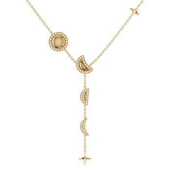 Moon Stages Necklace in 14 KT Yellow Gold Vermeil on Sterling Silver