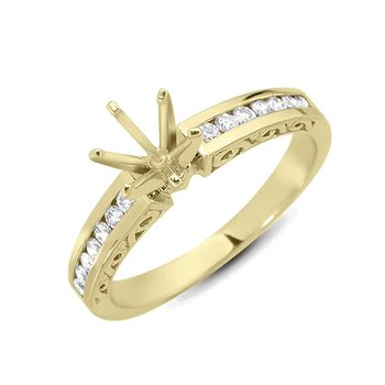 Yello Gold Engagement Ring